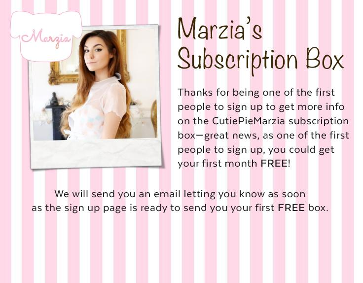 Hey Marzipans! @MarziaPie is launching an EXCLUSIVE  box with us! Find out more info here: http://t.co/9i0SsQze2C http://t.co/M0gcFmt4Tq