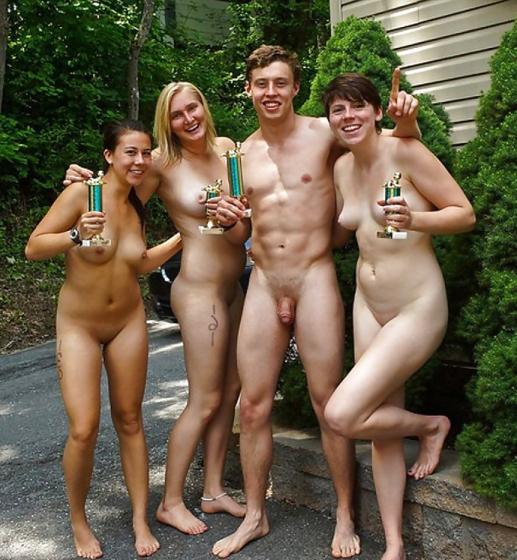 naked girls wearing strapons