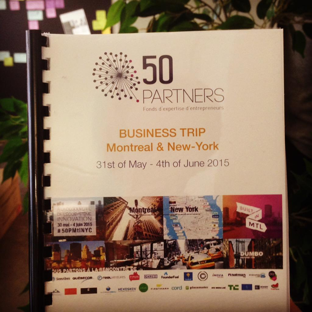 #50PMtlNYC - Starting now for 4 exciting days to meet w/ Montréal & NewYork innovation ecosystems. GO ! http://t.co/x2Bh3wZ2bM