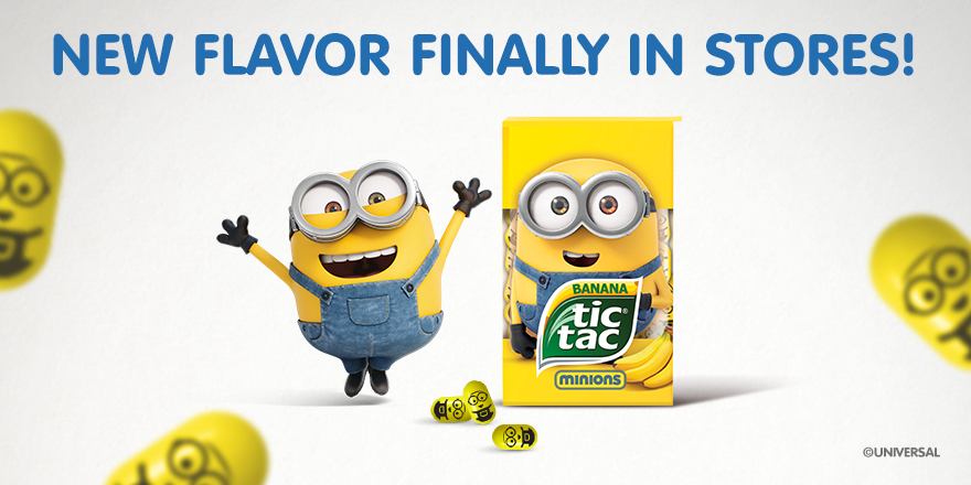 tic tac on this is true no kidding here minions tic