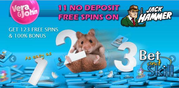 Vera John Casino no deposit free spins