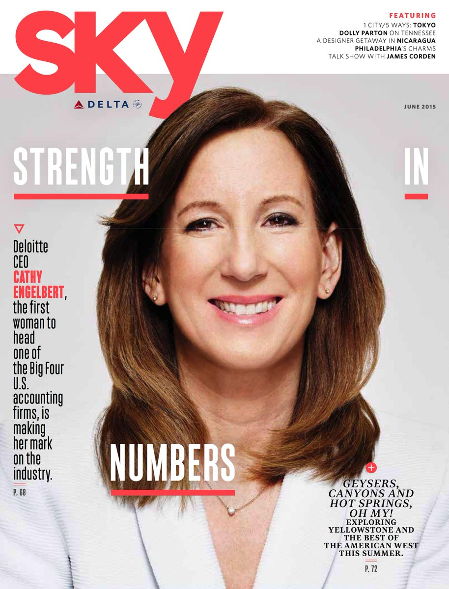 New month, new Sky! We've got @Deloitte CEO Cathy Engelbert on our new cover: http://t.co/tdXHPw00I6 @Delta #deltasky http://t.co/CMJ23ElTgu