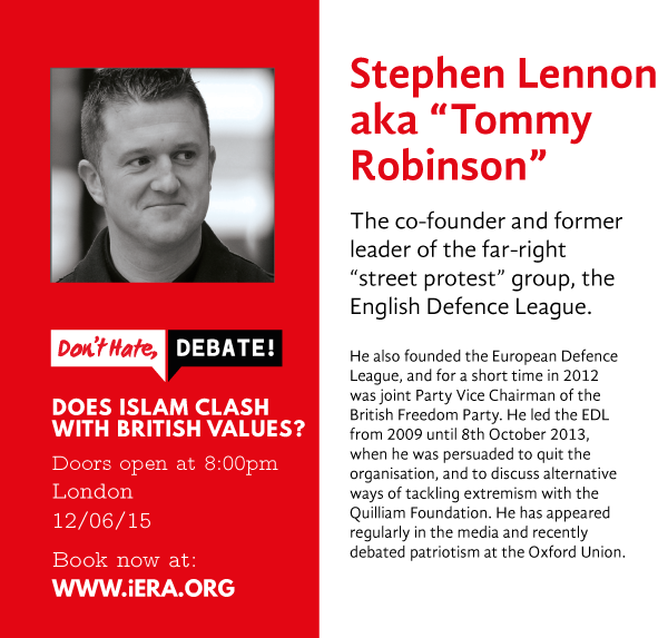 (1/6) Meet the panel for our upcoming #London '#DontHateDebate!' event: @TRobinsonNewEra - http://t.co/zi31SMosDp http://t.co/lyJFOM5X1j