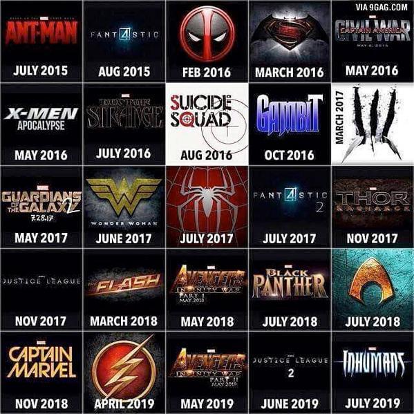 Marvel Calendrier.Le Grand Rex On Twitter Voici Le Calendrier Des Films Qui