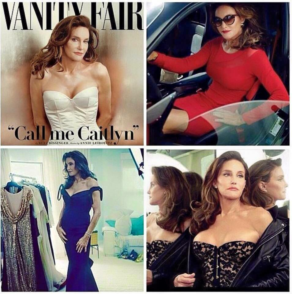 Bruce Jenner's big reveal to Caitlyn Jenner. You go girl. Looking hotter than Kris = You won the break up! http://t.co/AIu8GoW3NS