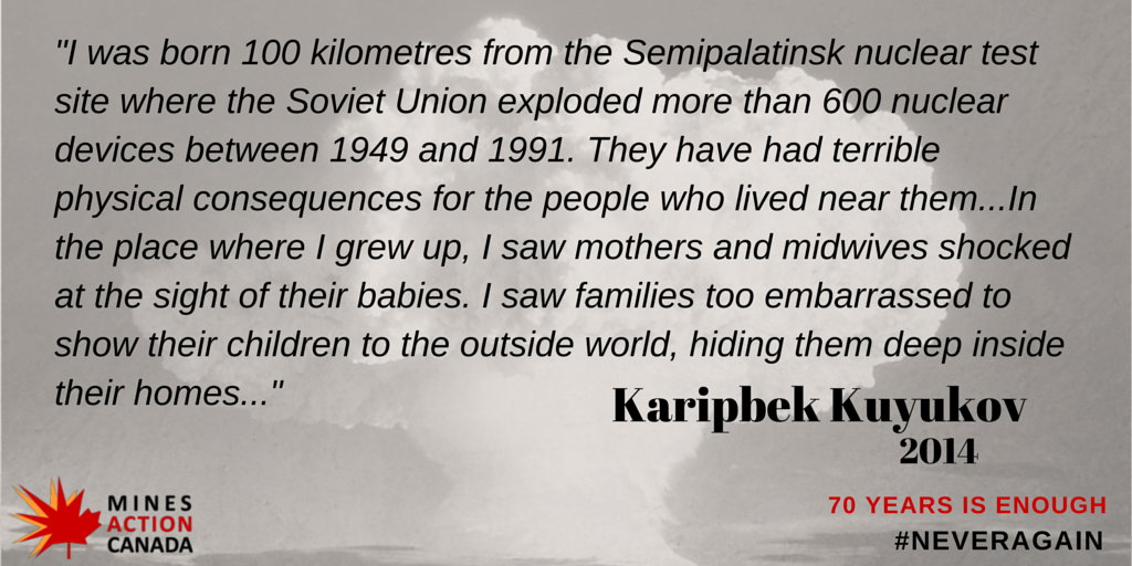 54 days to 70th anniversary of #Hiroshima & #Nagasaki @theatomproject1 ambassador Karipbek shares the impact of tests http://t.co/K0Bvwh1nVQ