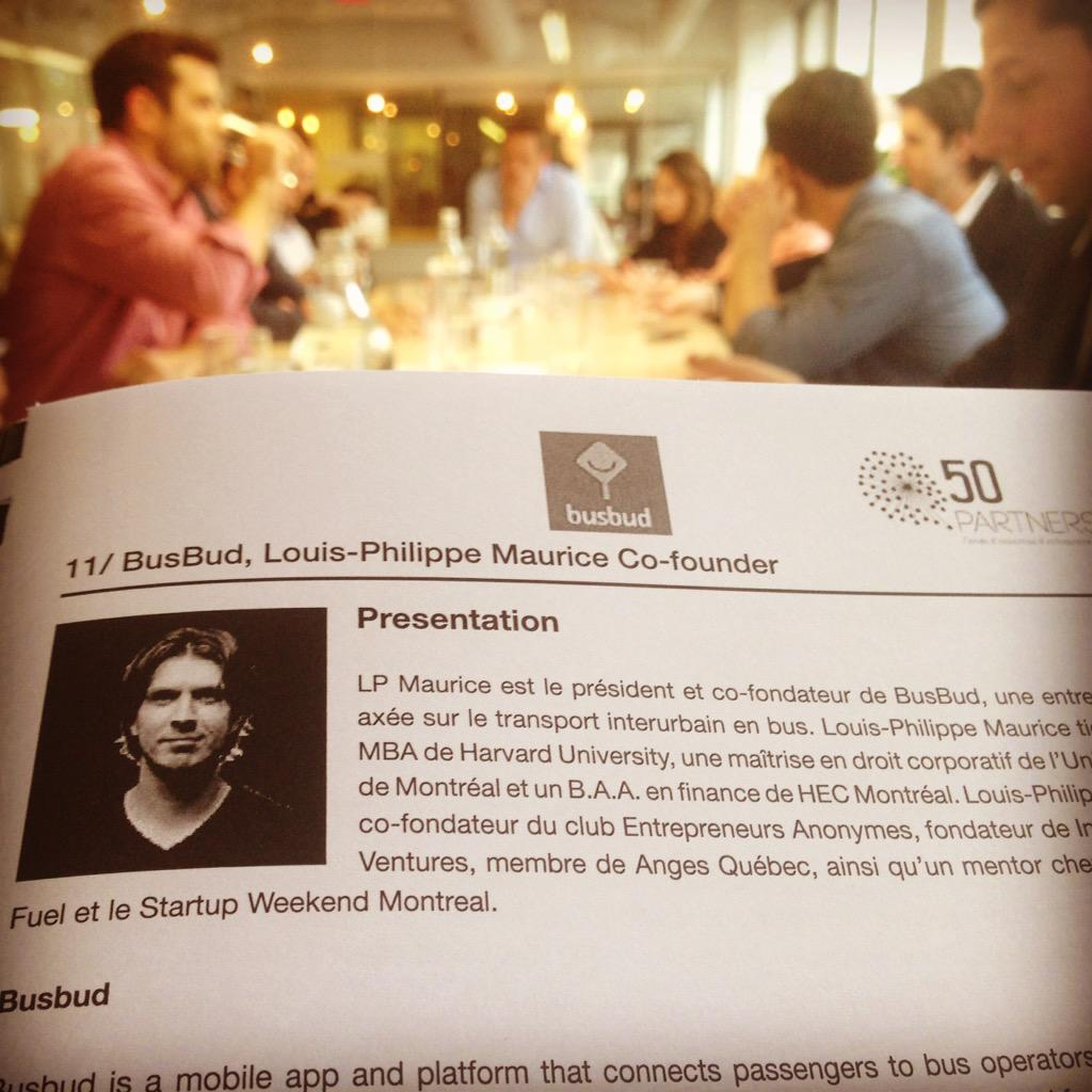 #50PMtlNYC - meet w/ @lpmo @Busbud @credoprod and founder of LaGare, major coworking space in Montréal http://t.co/KHna9mSWbz