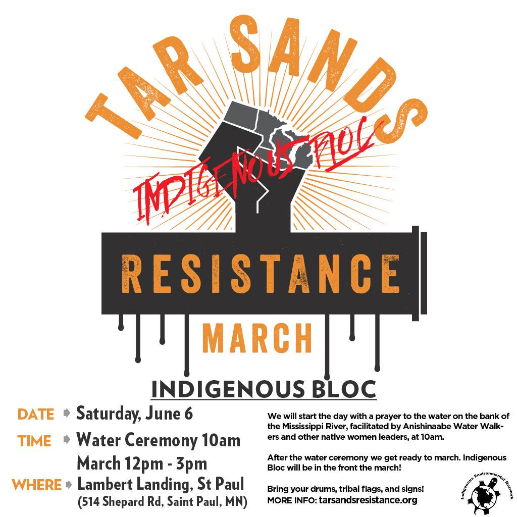 This Saturday, thousands will march and rally in resistance to Tar Sands development in St. Paul, MN! #noKXL http://t.co/dVYDDGbG8l