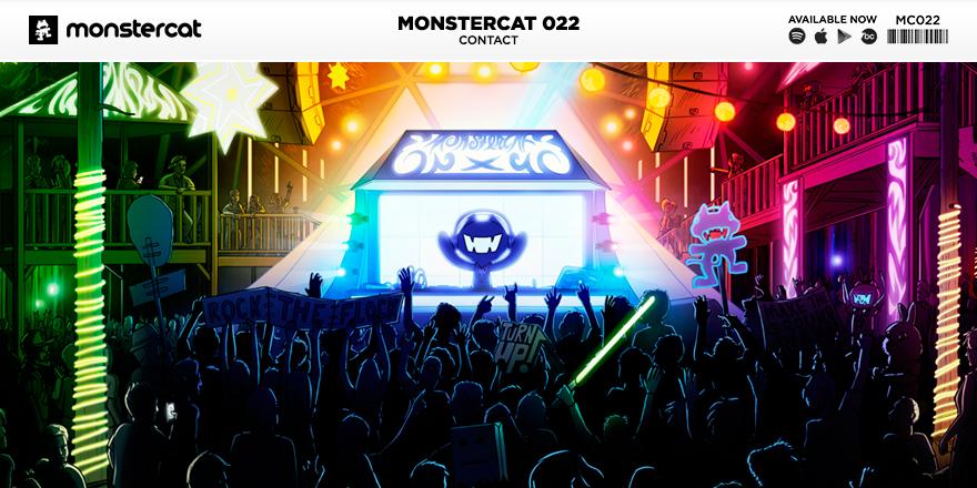 Monstercatアルバム022 contact カバーイラスト