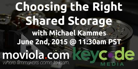 Join @michaelkammes on how to choose the right shared storage! Free! 6/2, 11:30am -Sponsored by @KeyCodeMedia! http://t.co/sbOqJfny3n