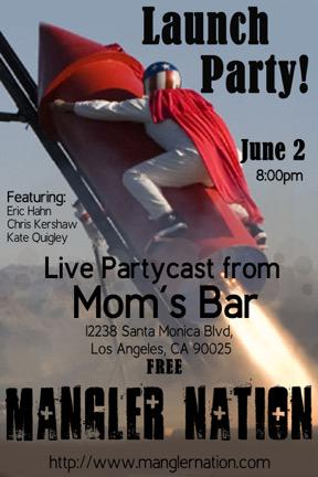 Tomorrow- Mangler Nation is hosting a FREE Partycast here!  Stop by for a drink and check it out! http://t.co/HPsXillrZ7