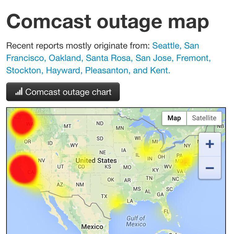 Massive Comcast DNS outage right now. Glad I'm using Google's DNS! (8.8.8.8) http://t.co/MYNwYNC5wC