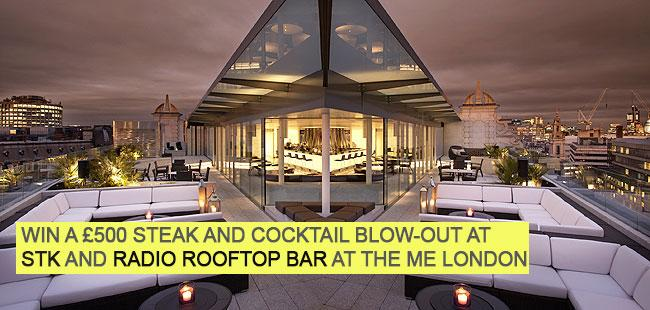 #Win an evening with @MELondonHotel inc. a £200 tab for @radioatmelondon & £300 at @STKLondon. Follow & RT to enter!