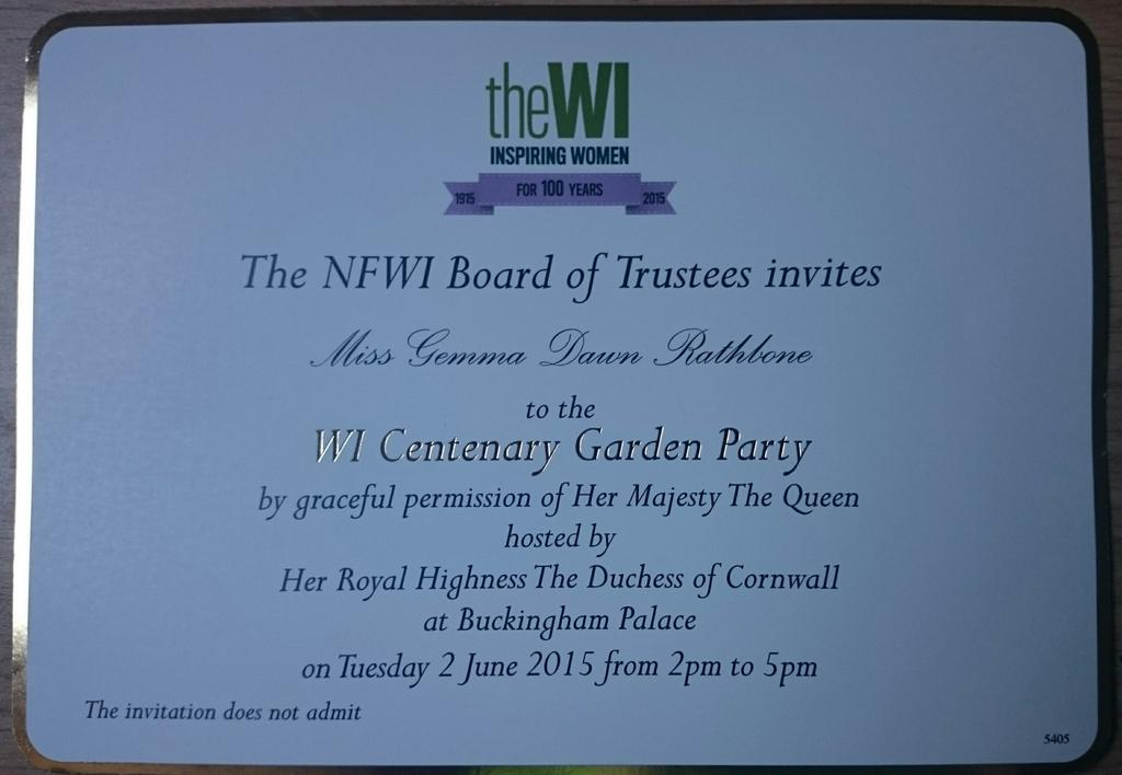The 100th Anniversary of the Womens Institute with images – Royal Garden Party Invitation