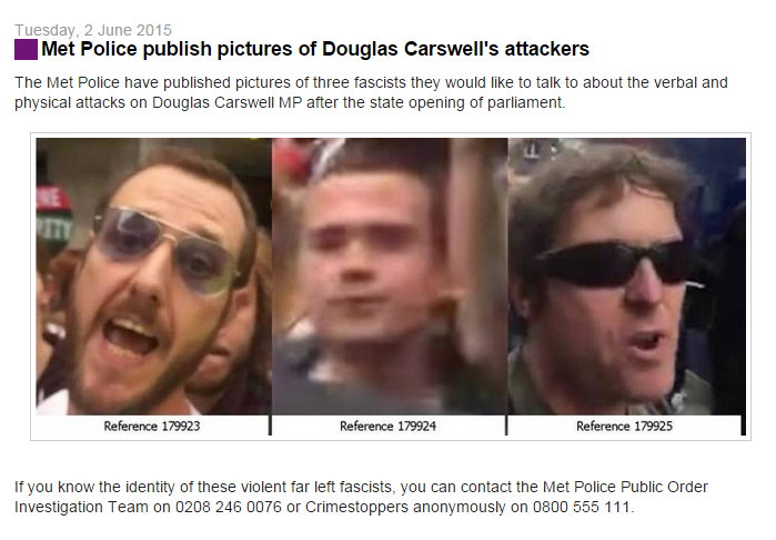 #MetPolice issue images of Douglas Carswell's attackers: http://t.co/RerbncOh0s #euref #brexit #no2eu http://t.co/qesGkiBRot