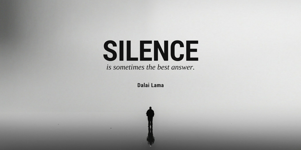 "ThoughtFlame On Twitter: """"Silence Is Sometimes The Best"
