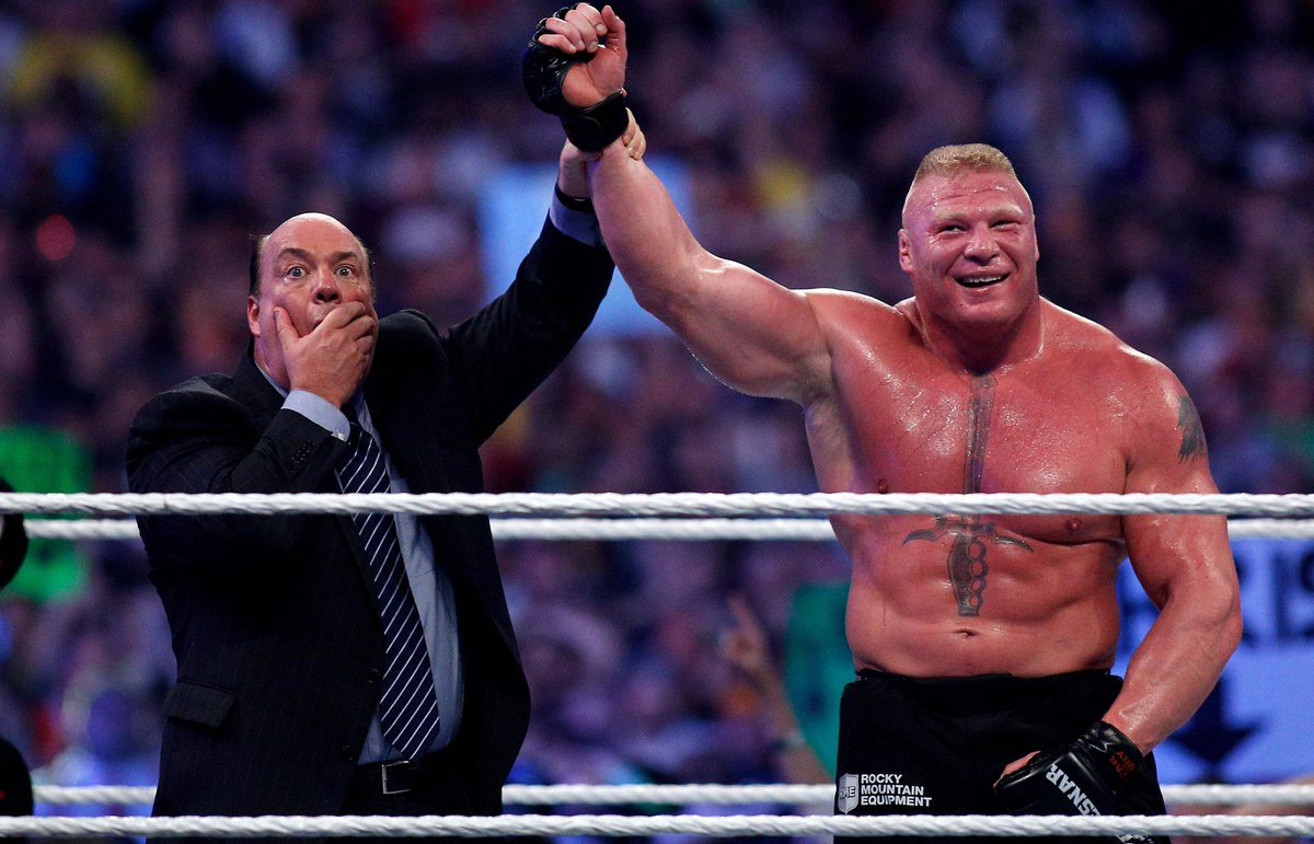 Paul Heyman: Brock Lesnar chose WWE over UFC because latest run was so enjoyable http://t.co/IOj9i1JTE4 #UFC #WWE