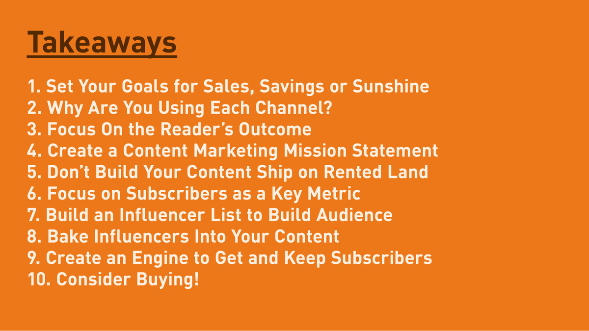 10 takeaways from @JoePulizzi #ContentNorge #contentmarketing http://t.co/SAPuM2uLek