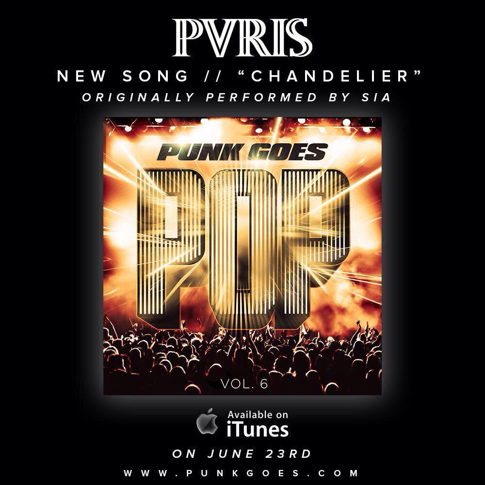 Tracked drums on another banger for the @ThisIsPVRIS fam. This one turned out sick. June 23rd! http://t.co/u25Il2K4Hv