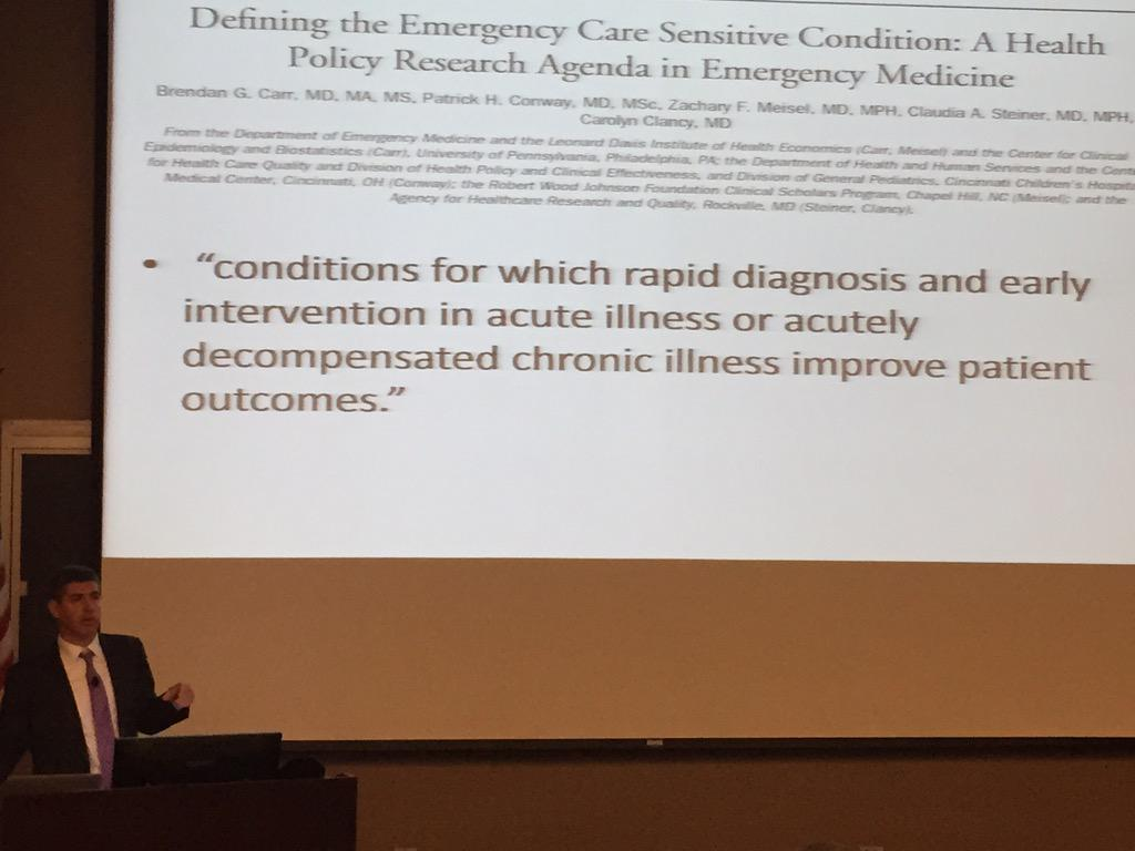 "getting closer to defining what an ""emergency"" is - ""emergency care sensitive condition"" http://t.co/l828WGBPj9"