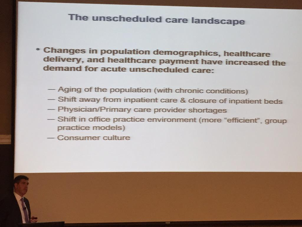 challenges to optimizing system for acute unscheduled care http://t.co/30oAfqIoLl