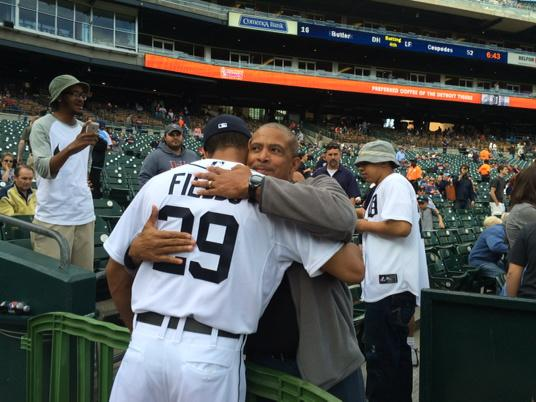 #Tigers Daniel and Bruce Fields. My favorite moment today. http://t.co/QrD8GCuV9p