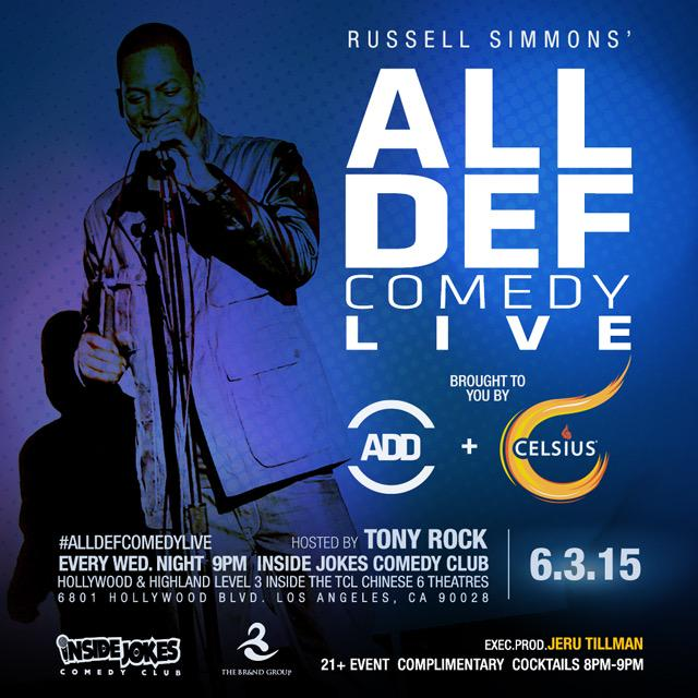 Tomorrow night, come out to #AllDefComedyLive. You won't want to miss it. @alldefdigital @celsiusofficial http://t.co/yX8Kux2AHV