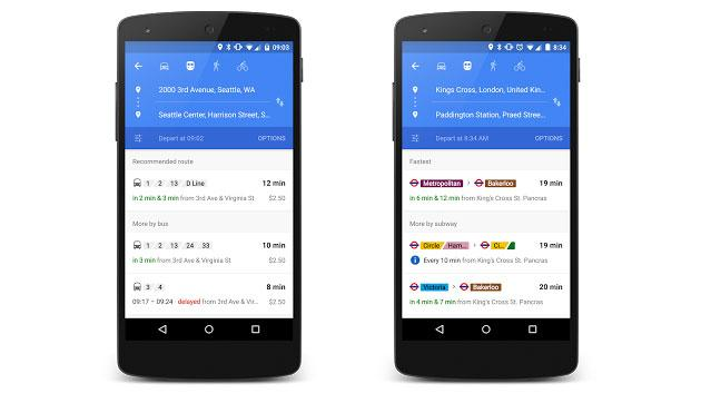 Google Maps real-time transit info is now available in more places