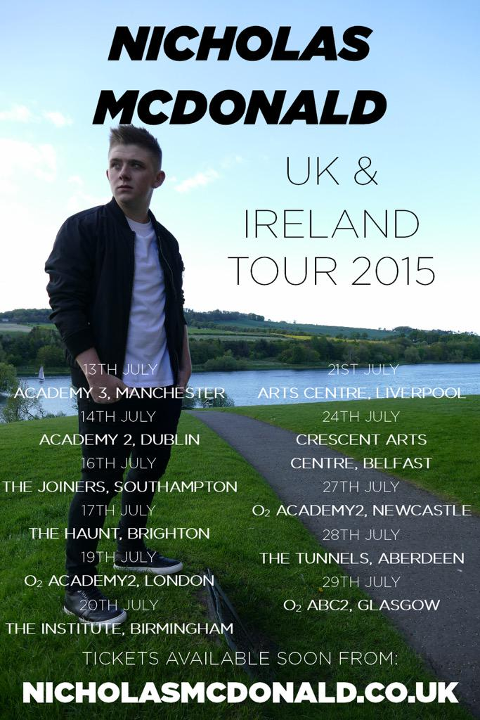 RT @GregorColeman: Going to be playing alongside Nicky every date on tour, get retweeting, going to be a mental one! http://t.co/pJBr3UAcqf
