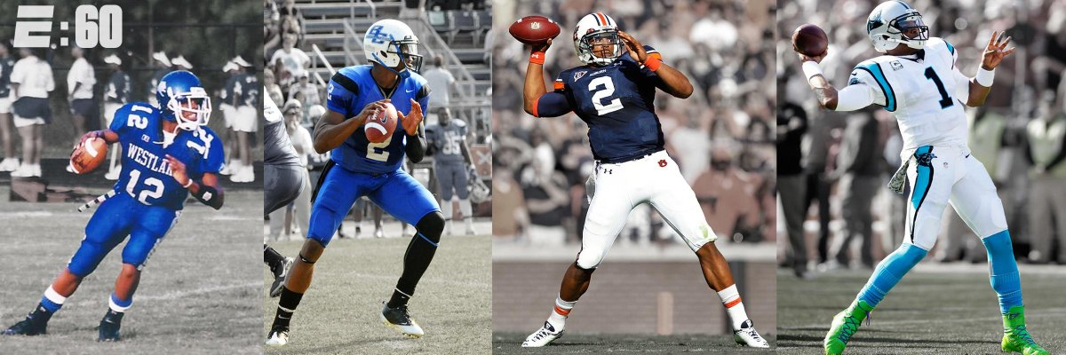 f97f82486 the evolution of cam newton from westlake high to blinn college to auburn  tiger to panthers