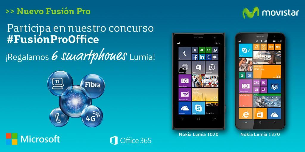 Concurso #FusiónProOffice ¡Gana un smartphone @LumiaEs! 1-Haz RT