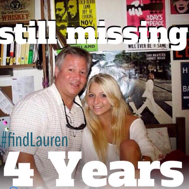 Feels like yesterday when the nightmare began. #4YearsLaterFindLauren #Missing #Hoosier #Daughter #Sister #Friend http://t.co/UUqxDBncXs