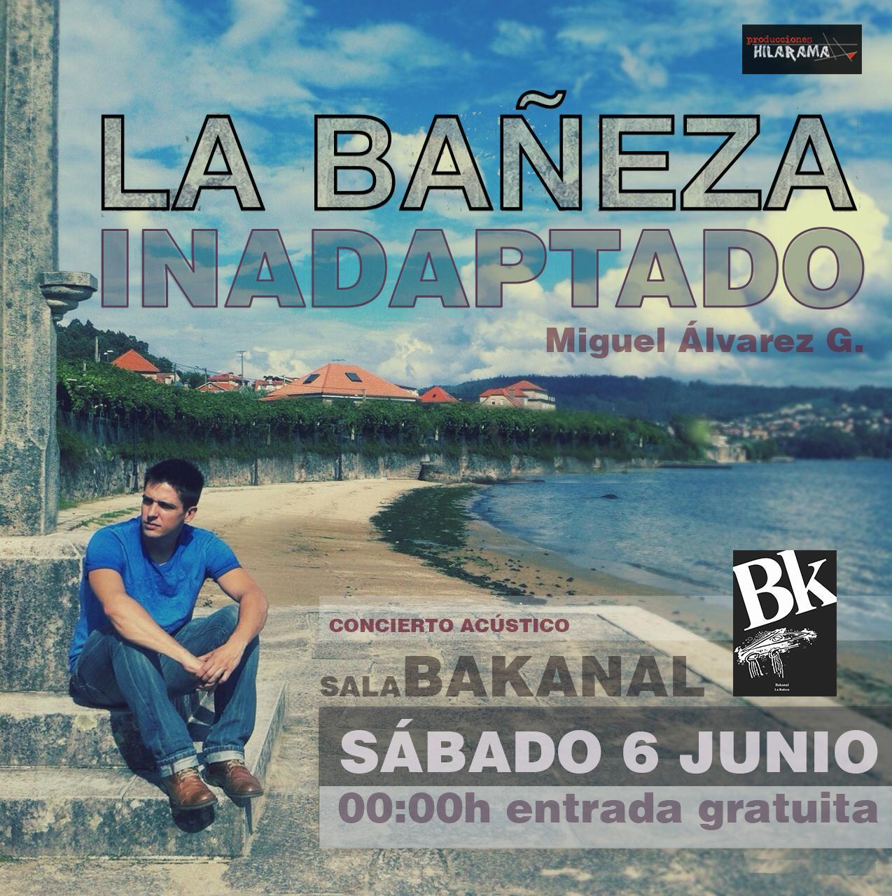 concierto #inadaptado Miguel Álvarez G  Pub Bakanal @labaneza  #leonesp  0:00h entrada gratuita.Después dla champions http://t.co/q3M6CfrIFm