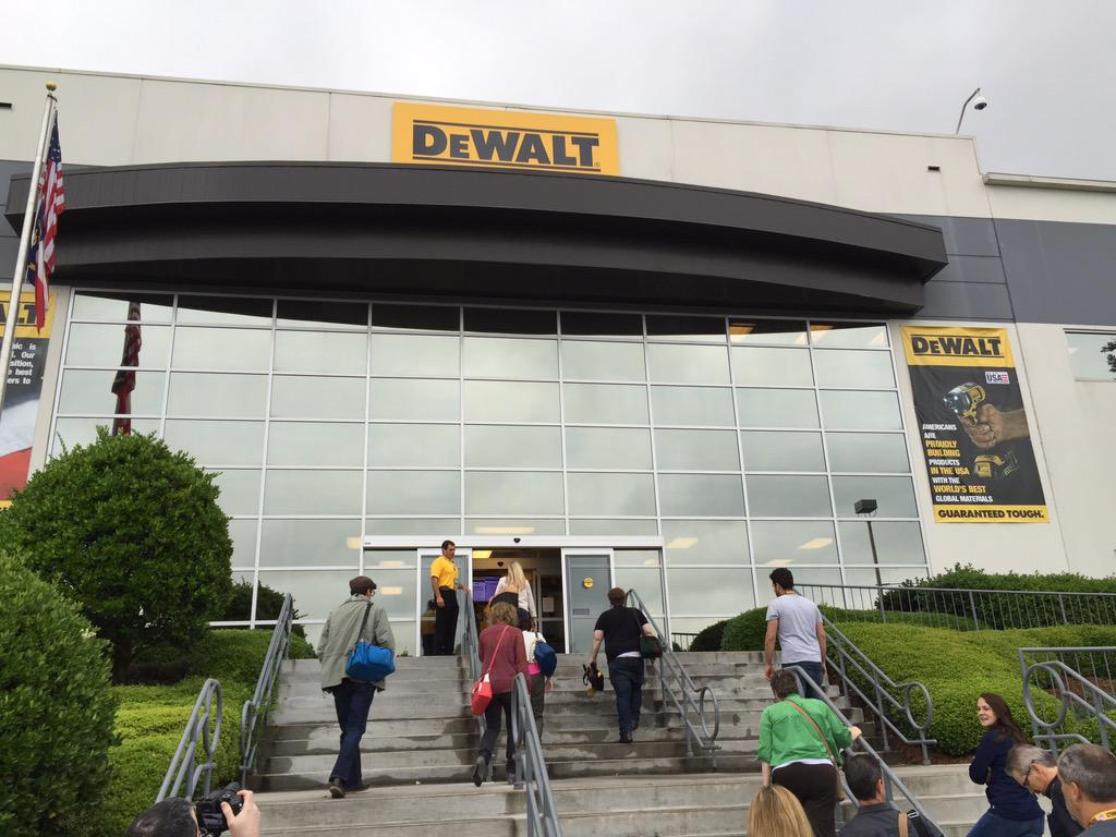Excited to tour @DEWALTtough manufacturing facility in Charlotte. #DewaltXP http://t.co/sdQrq8FK3g