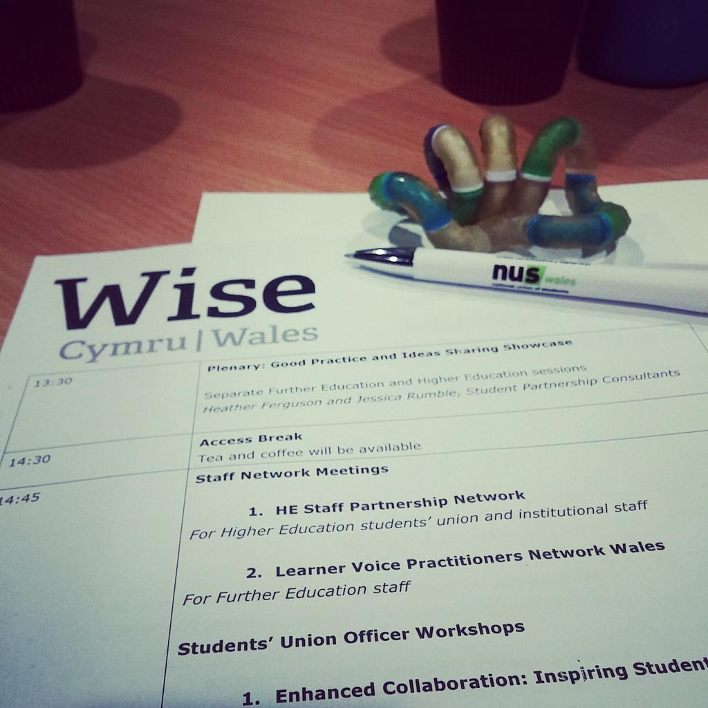 Wise Wales conference day has started! #NUSW #WiseWales #UWTSD #TSDSU #TangleToy http://t.co/WqGEavv0gs