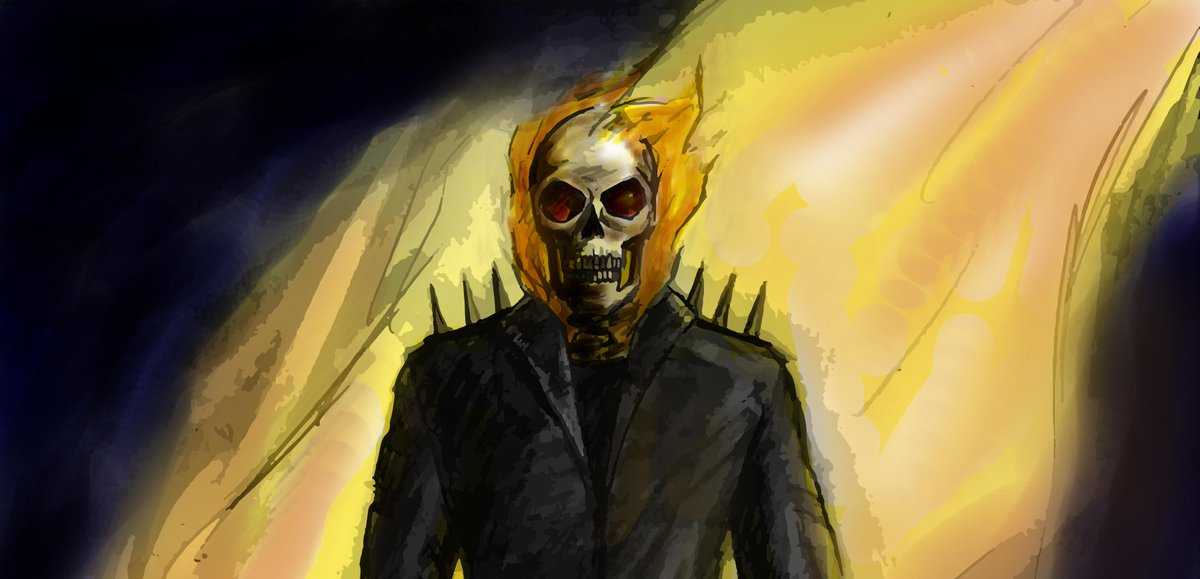 Roberto Guillén على تويتر Dibujo De Ghost Rider Realizado A