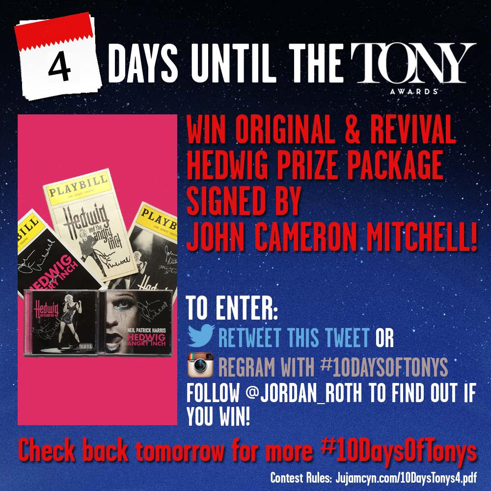 Lift up your hands! Retweet to enter to win a HEDWIG prize pack signed by special Tony winner JOHN CAMERON MITCHELL! http://t.co/5dzWoQ5sLT