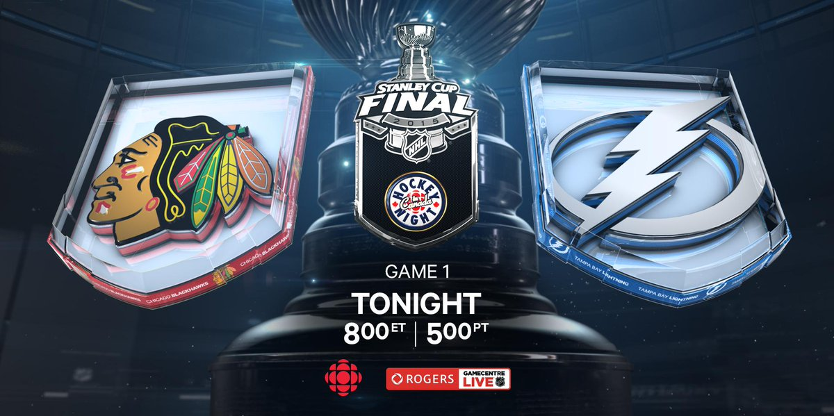#Stanley Cup Final kicks off tonight in Tampa as #Lightning and #Blackhawks battle in Game 1 on CBC & #RGCL