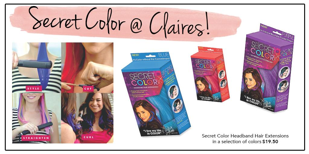 Claires On Twitter Claires Has Secretcolor Hairextensions As
