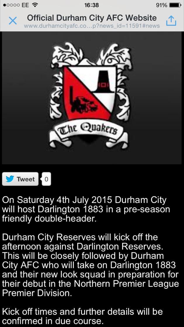 Durham City Reserves Durhamcityres Twitter