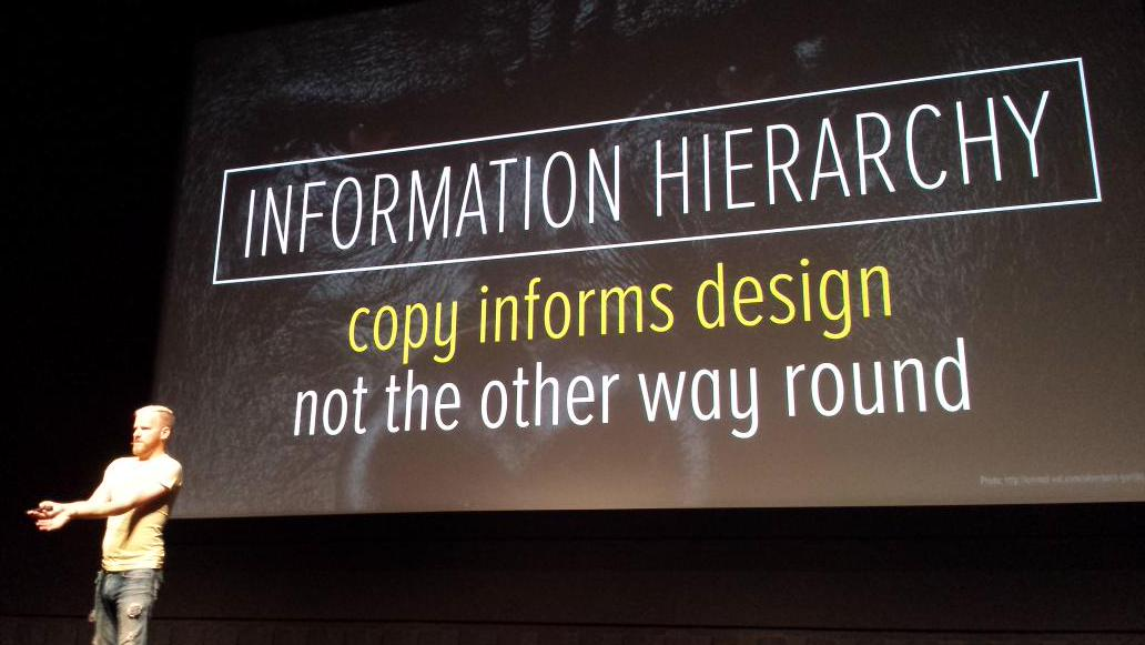 Information hierarchy on landing pages
