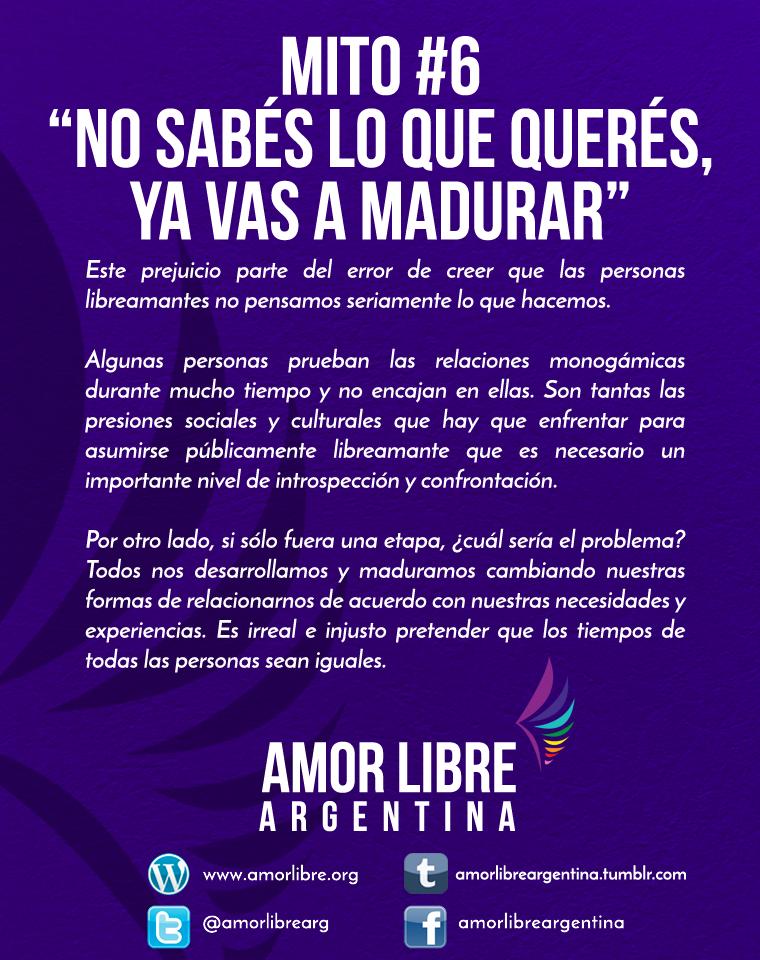 Amor Libre Argentina On Twitter Mitos Vi Frases Y