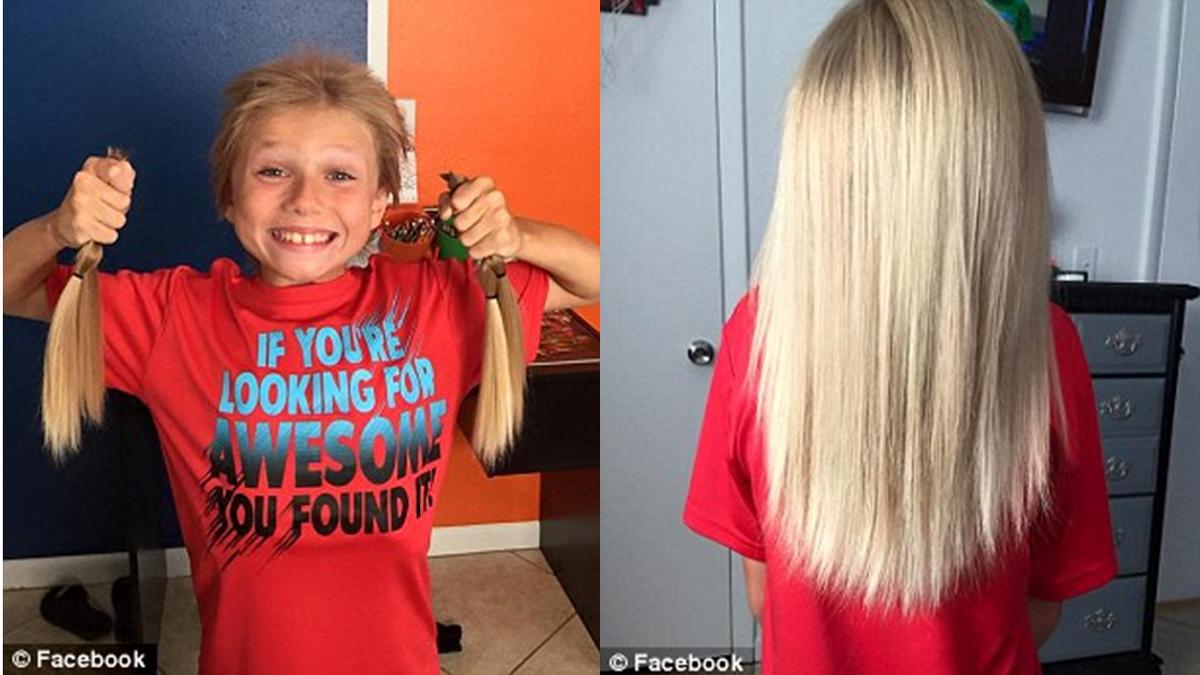 """ילד אמיץ בן 8 גידל שיער כתרומה לחולי סרטן ושנתיים ספג עלבונות שהוא """"נראה כמוילדה"""" http://t.co/6uCbdZ5ohp http://t.co/9WP4PeP0OZ"""