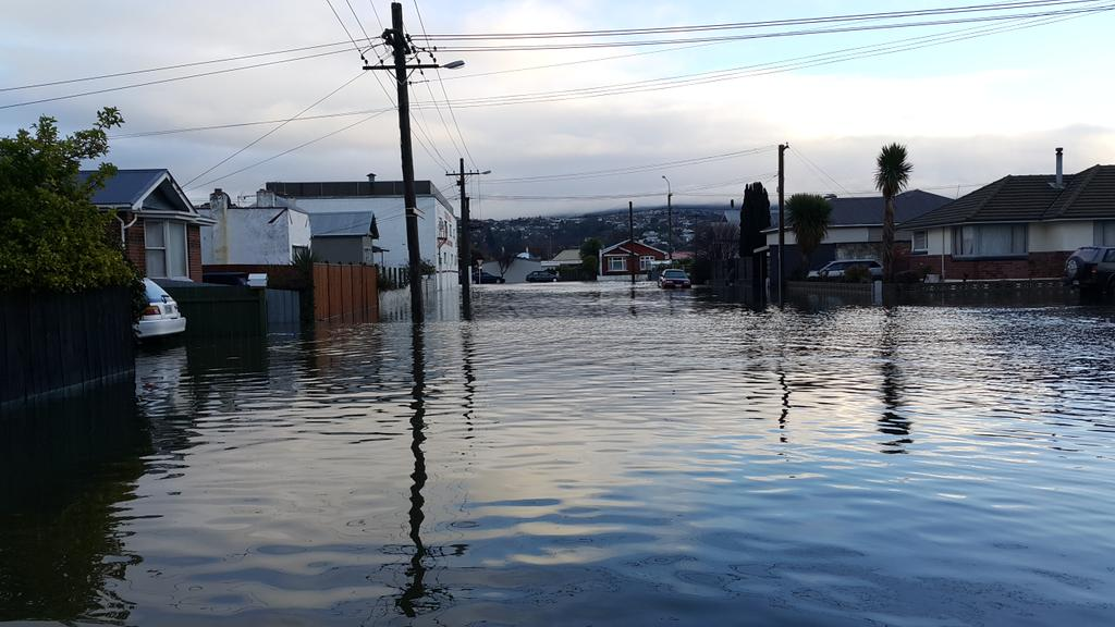 Moreau Street South Dunedin today. http://t.co/Zgqb3EO0R8