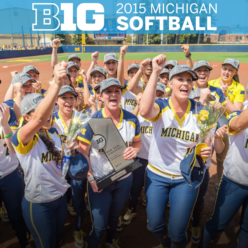 Congrats to @umichsoftball on an impressive 2015 season, highlighted by #Wolverines 19th #B1GSoftball title. http://t.co/W40uqWMwRS