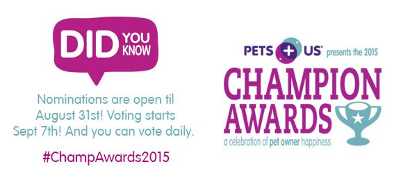 DYK: Nominations are open til August 31st! Voting starts Sept 7th. And you can vote daily! #ChampAwards2015 http://t.co/fiyTNTc0K1