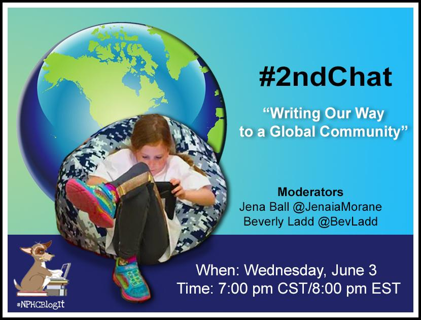 Only ONE minute until #2ndchat. Join us after #Ectechbrige to talk about creating a global community via writing! http://t.co/ct04KQ96fL