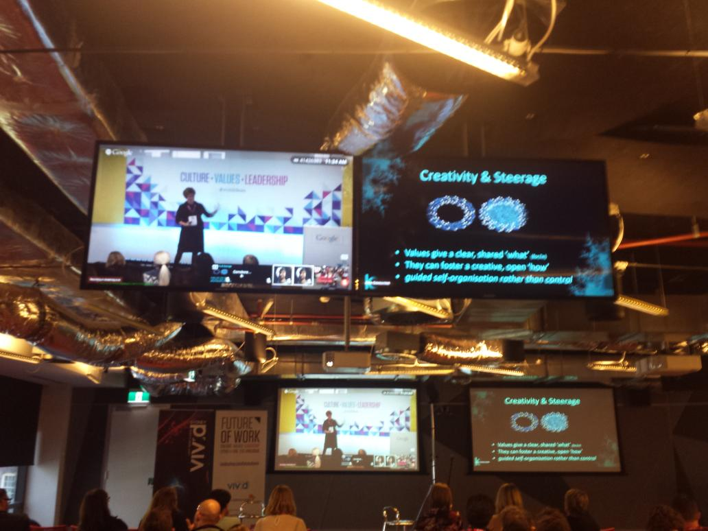 Steerage is better than control in a values-led org. Makes sense Dr Fiona Kerr #vividideas http://t.co/jqi7V4FDkl