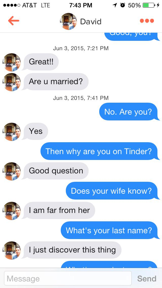Tinder married cheating