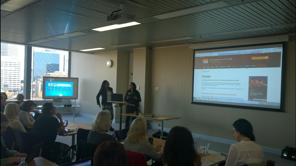 #tmwa Maree and Bhav giving welcome and what is Teachmeet http://t.co/dJwC2WOFYy